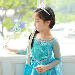アナと雪の女王 エルサ風 ドレス 4点セット